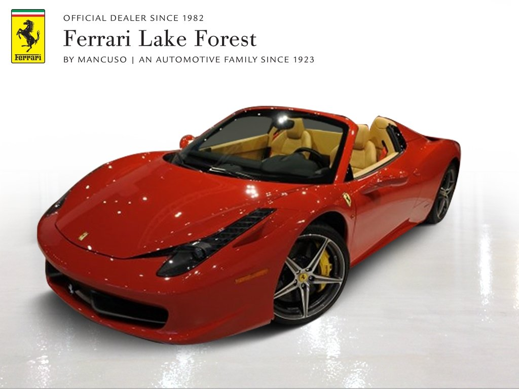 Certified Pre Owned 2014 Ferrari 458 Spider Convertible In Lake